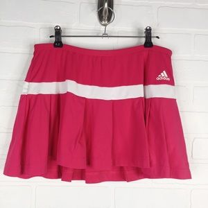 Adidas Tennis Skort Climalite Pink Ruffle Medium